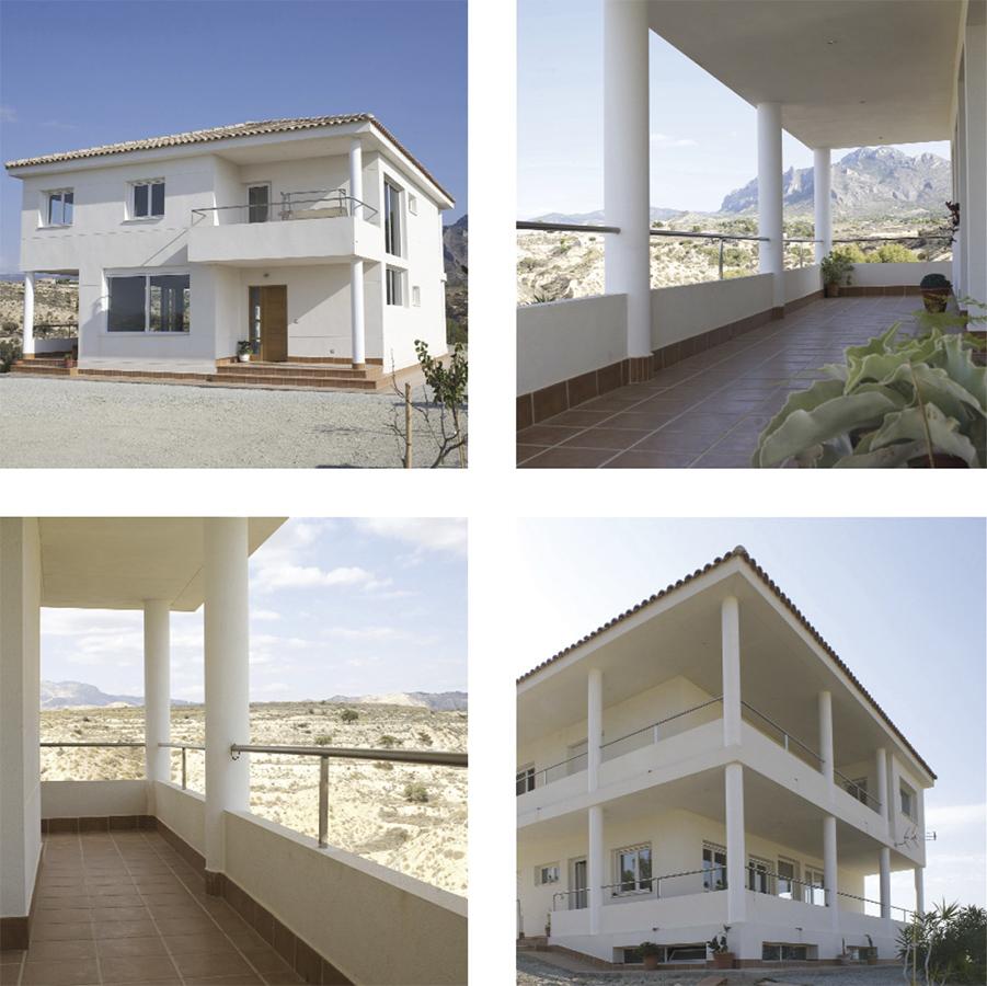 Casa Coveta luxury refurbishment facade and garden, Campello Alicante