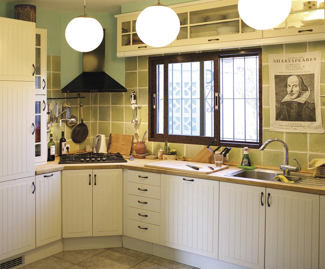 Casa Coveta luxury refurbishment rustic kitchen, Campello Alicante