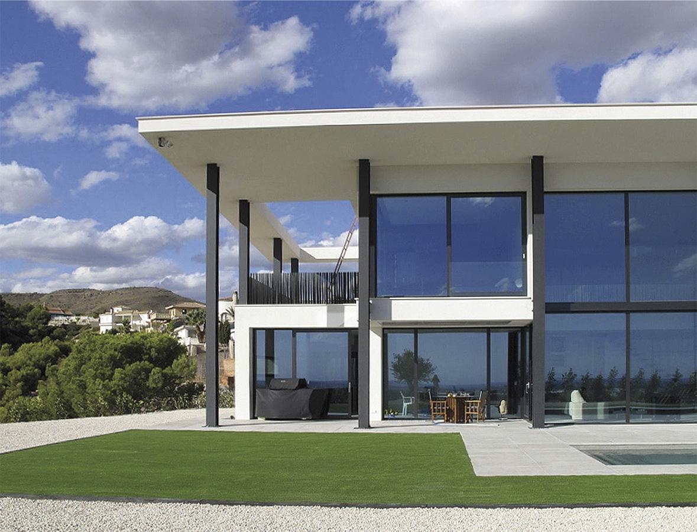 Villa Bella Mutxamiel facade modernist, new building Alicante Campello