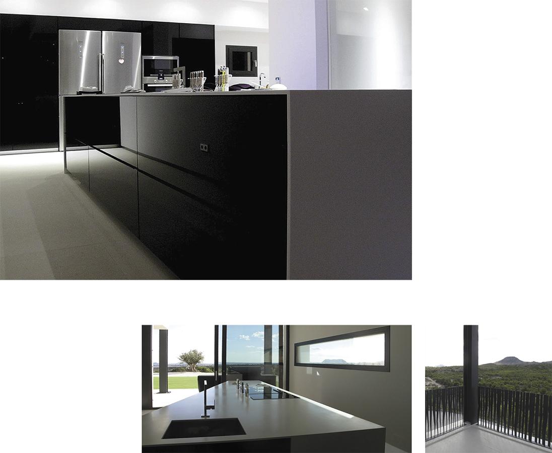 Villa Bella Mutxamiel luxury kitchen modernist, new building Alicante Campello