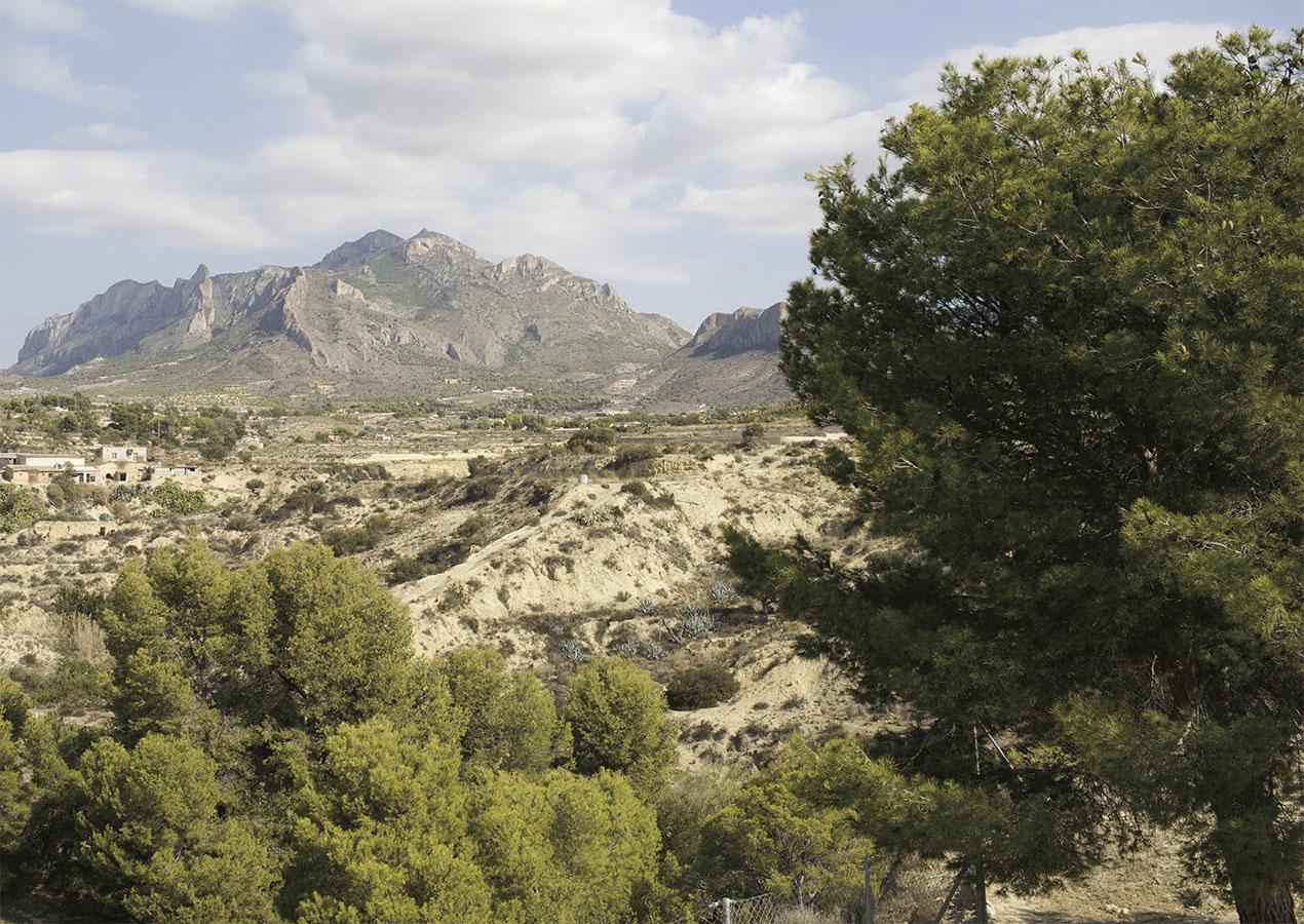 Villa Bussot Mountainous landscape from luxury house, new building, Alicante, Bussot